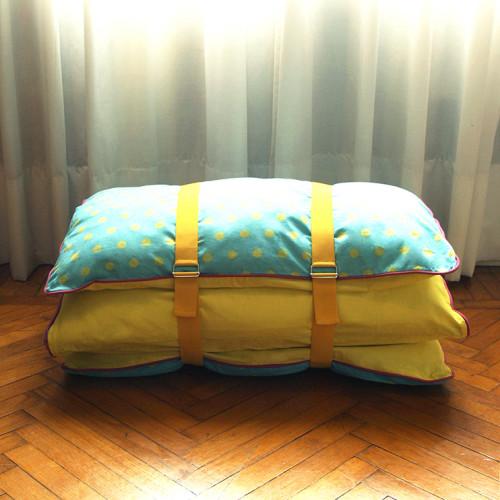 Pouf materasso giallo